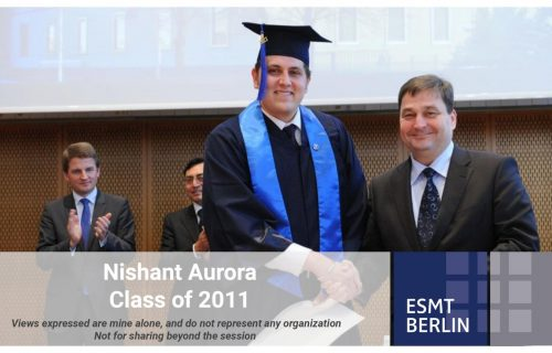 """Leave no one behind, don't be evil, and build products for everyone. Focus on the user and everything else will follow."" – ESMT alumnus Nishant Aurora presented his views on ""What lies ahead of us in Tech?"""